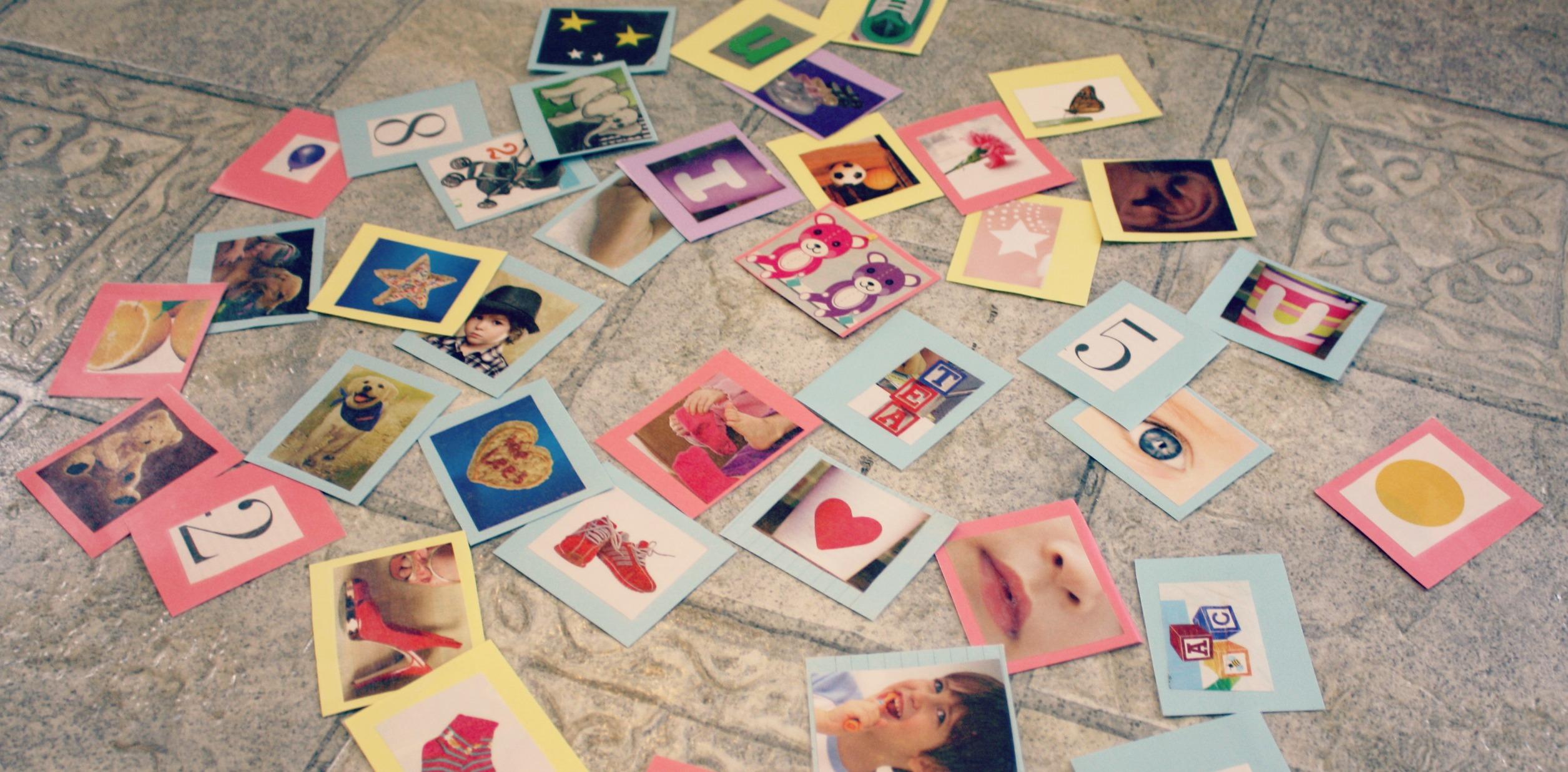 diy leftover magazine toddler vocabulary flashcards