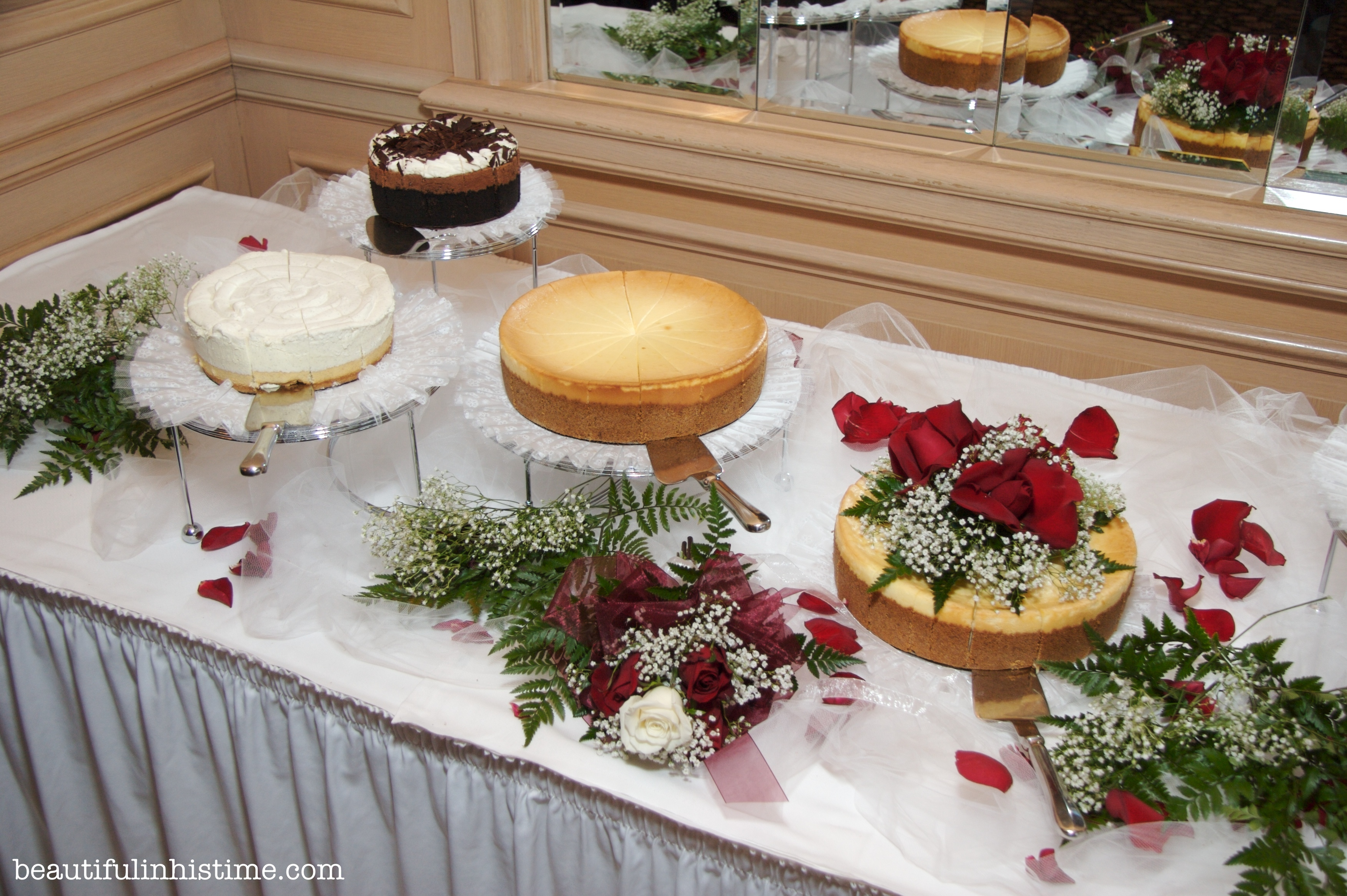 Cheesecake at wedding