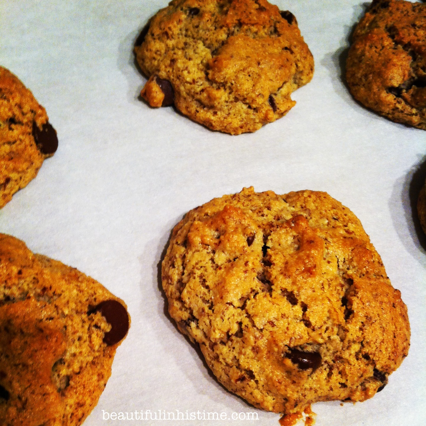 Paleo chocolate chip cookies Beauty in the Mess Edition 07.09.13 @beautifulinhistime.com