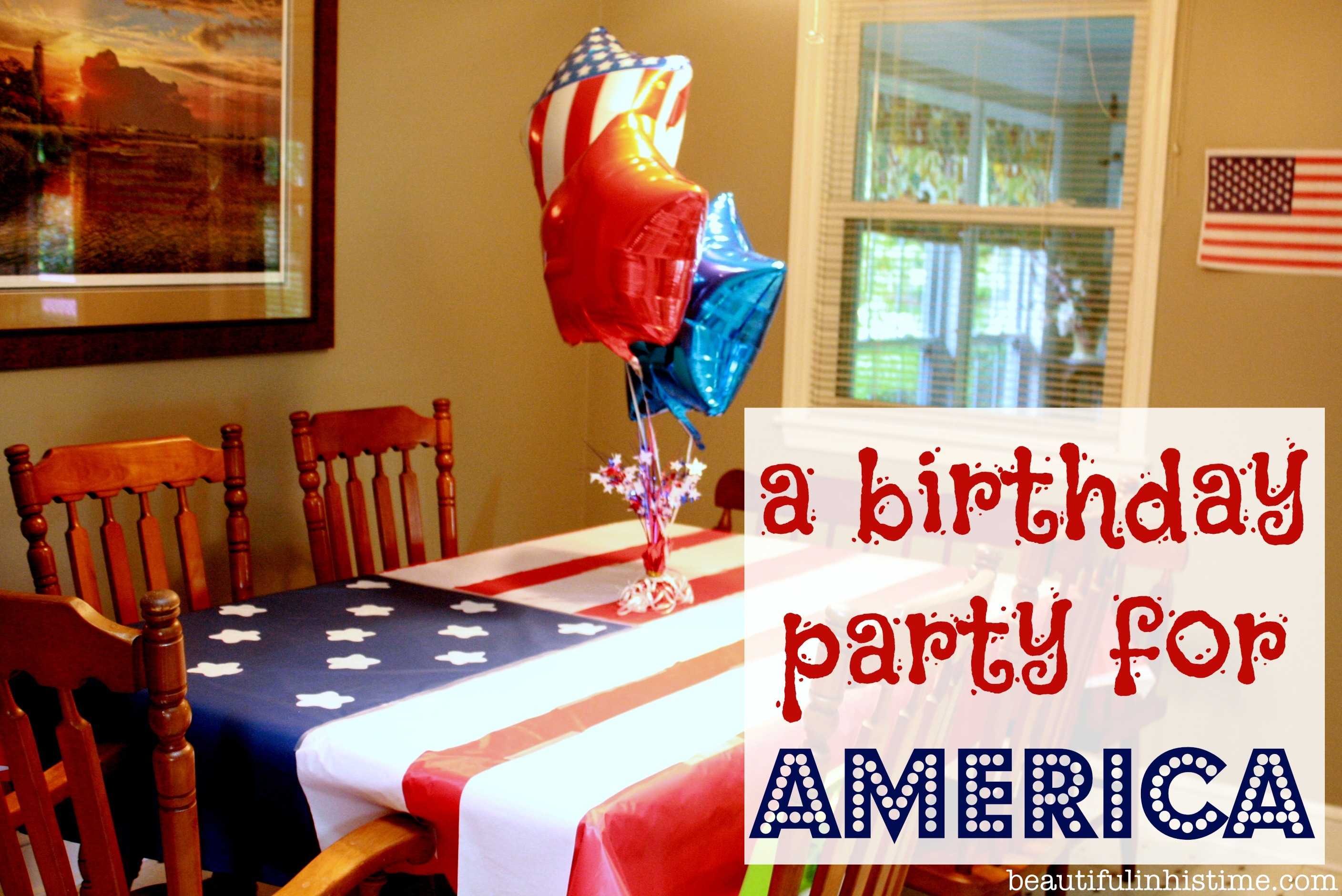 a birthday party for america