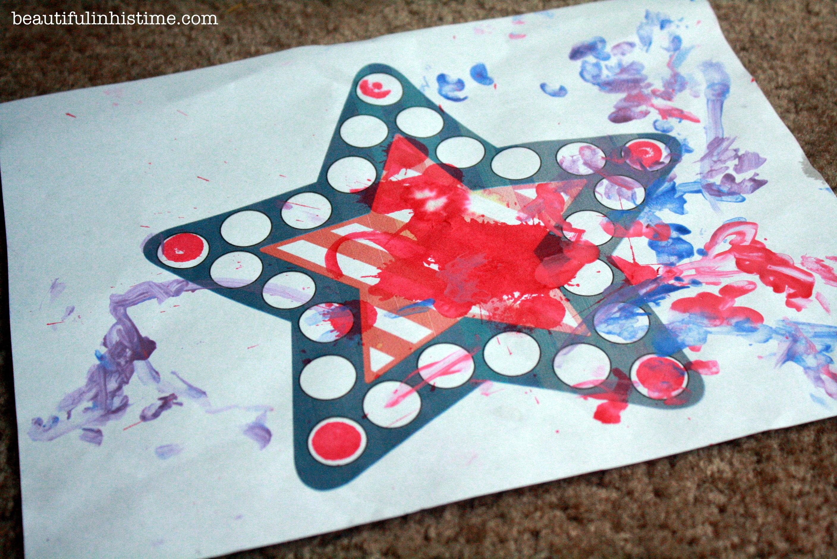 dot painting with qtips #preschool #painting #homeschool