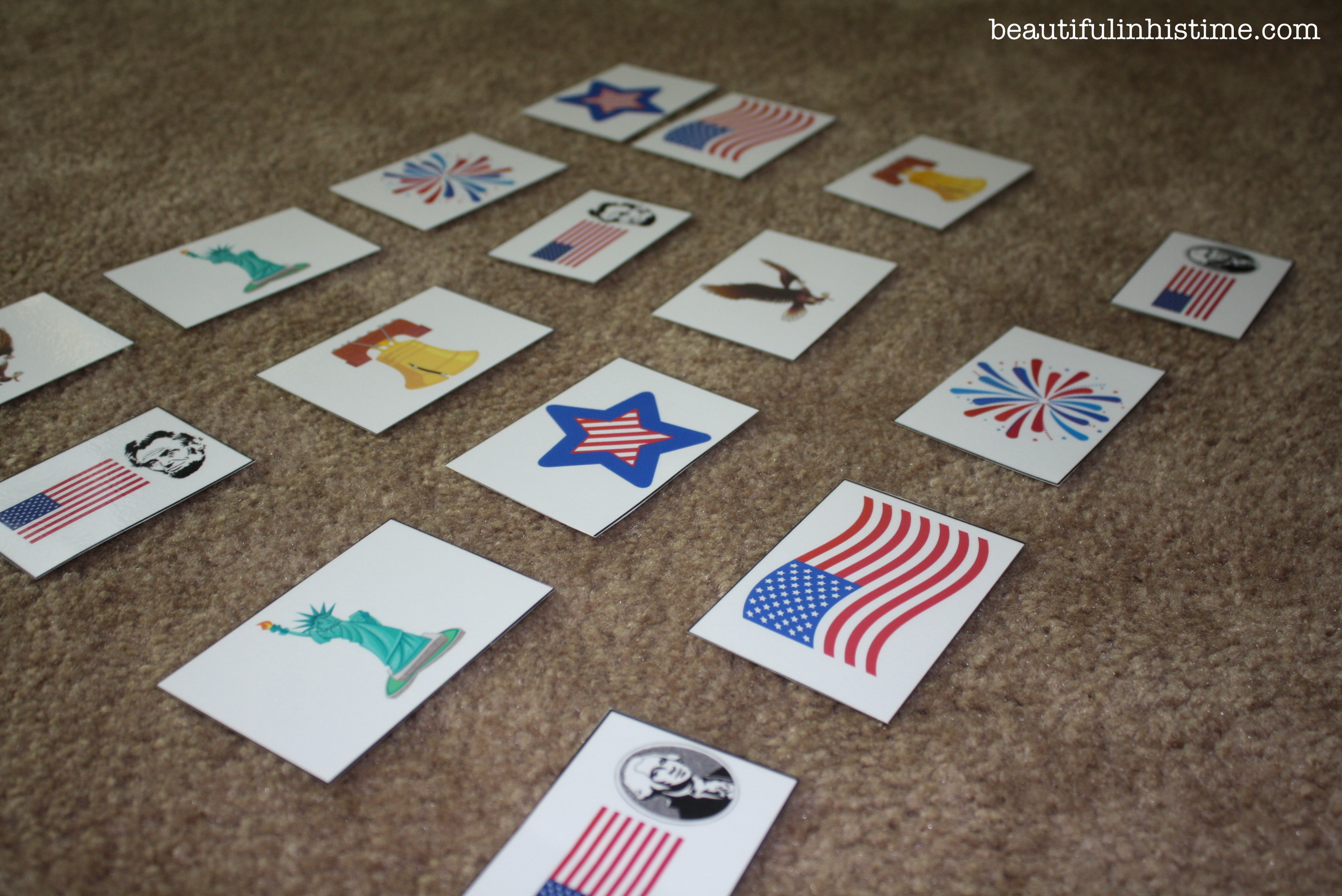 patriotic matching game flashcards #patriotic #preschool #homeschool #4thofjuly #independenceday