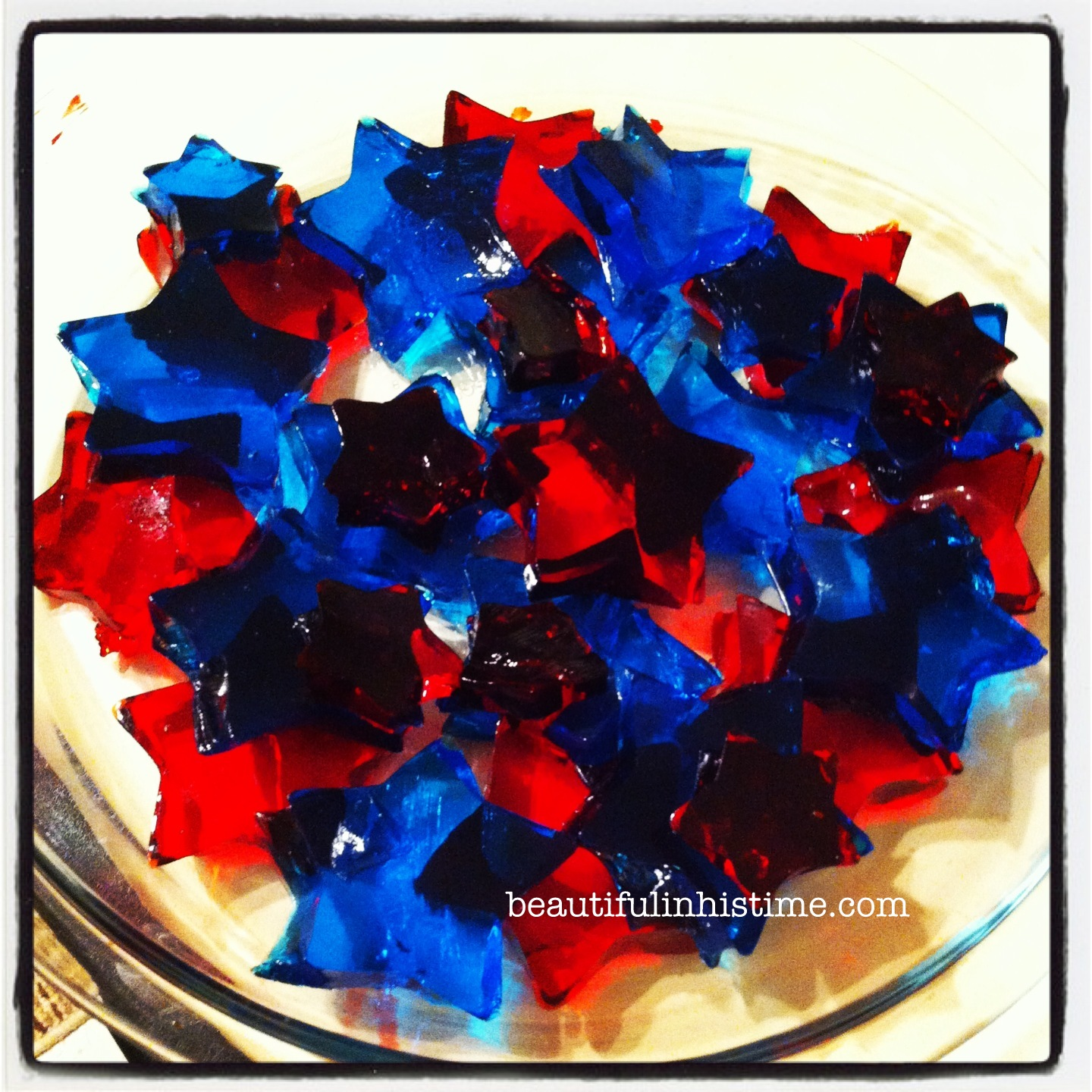 Star red and blue jello blocks #patriotic #preschool #homeschool #4thofjuly #independenceday