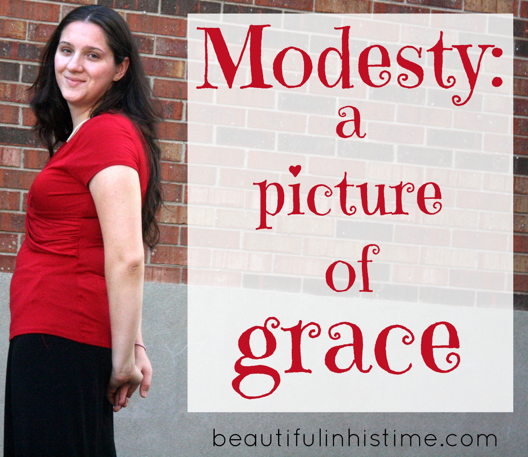 Modesty: a picture of grace. #modesty {the wilderness between #legalism and #grace part 11 @beautifulinhistime.com}