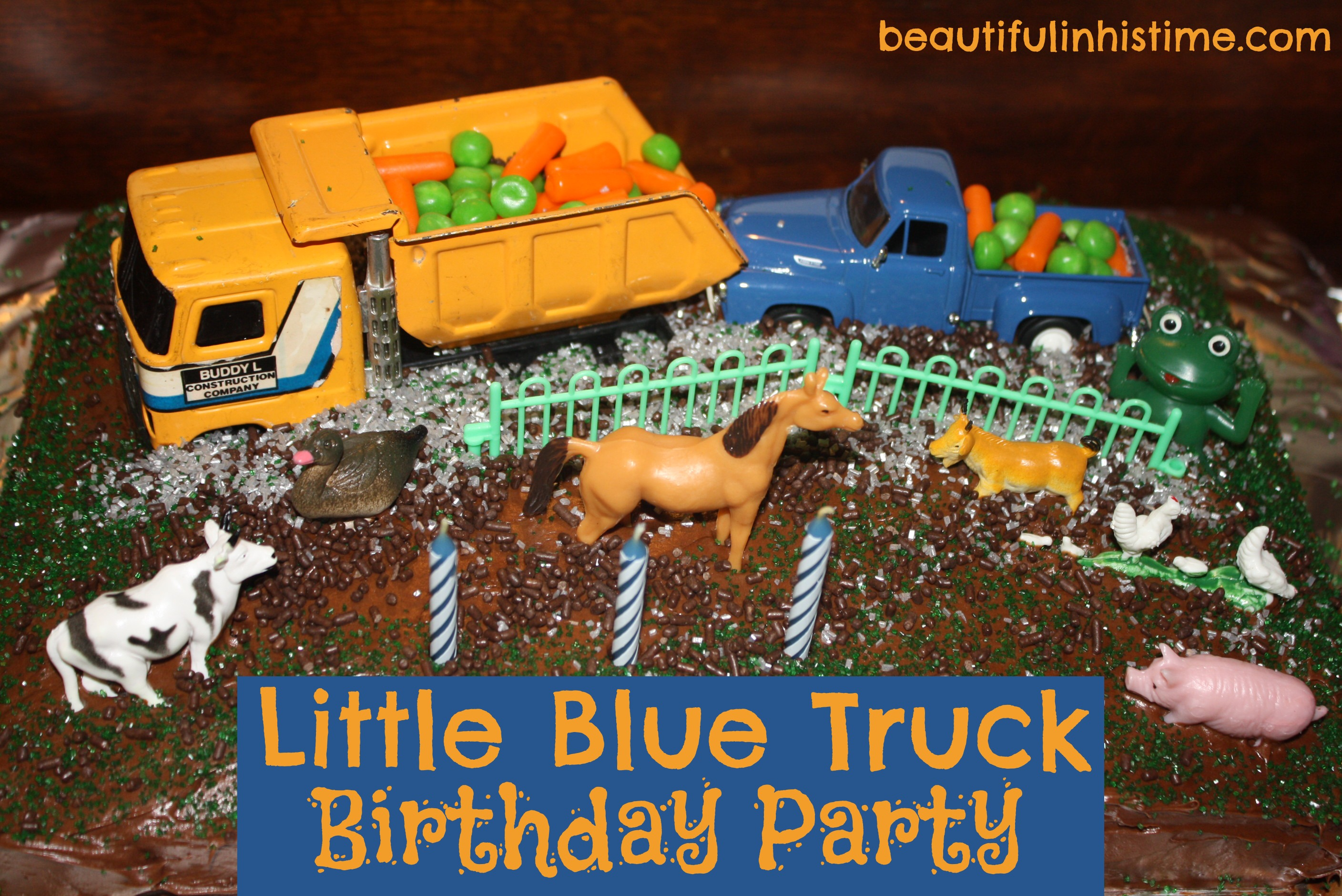 Ezras Little Blue Truck 3rd Birthday Party