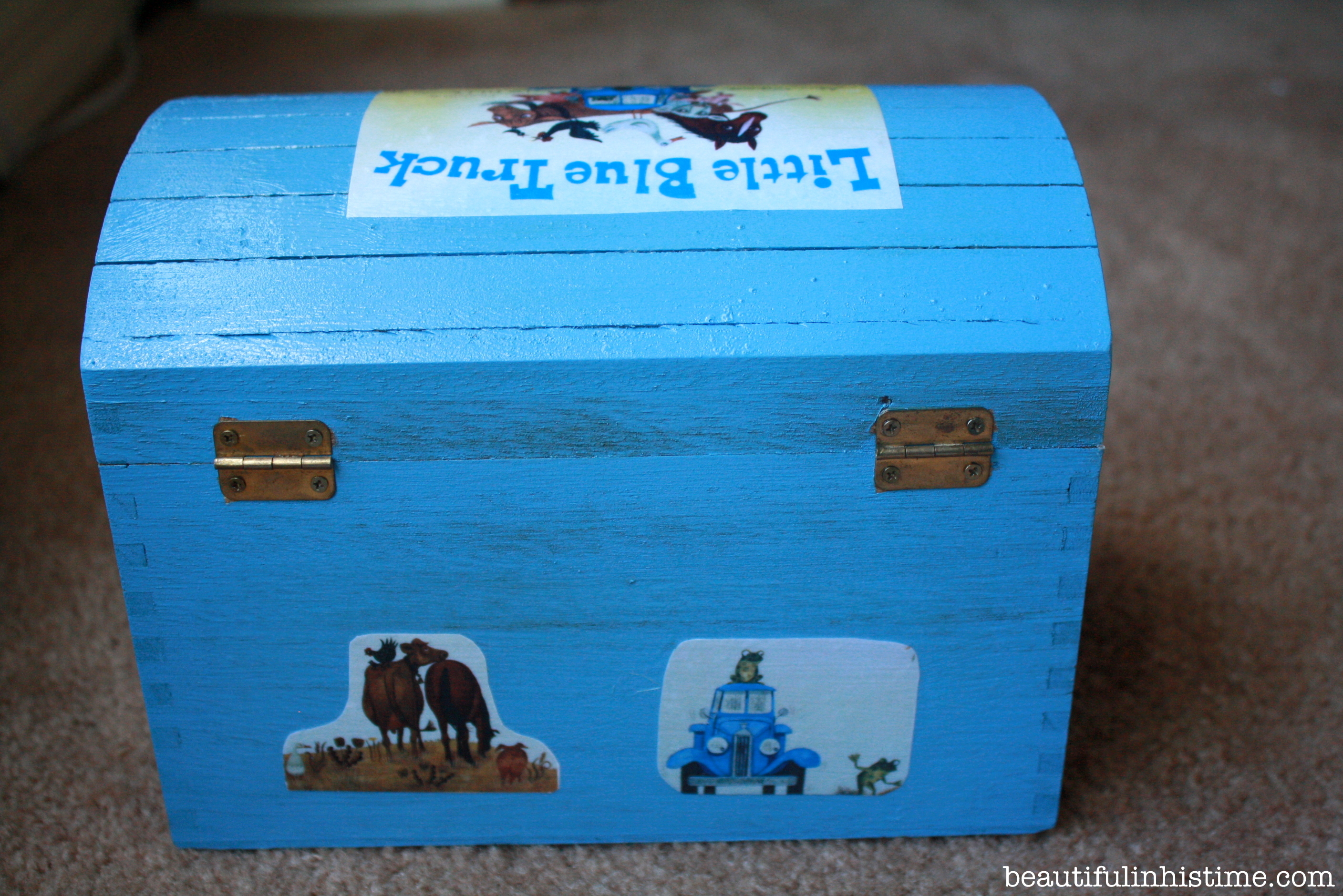 Little Blue Truck box