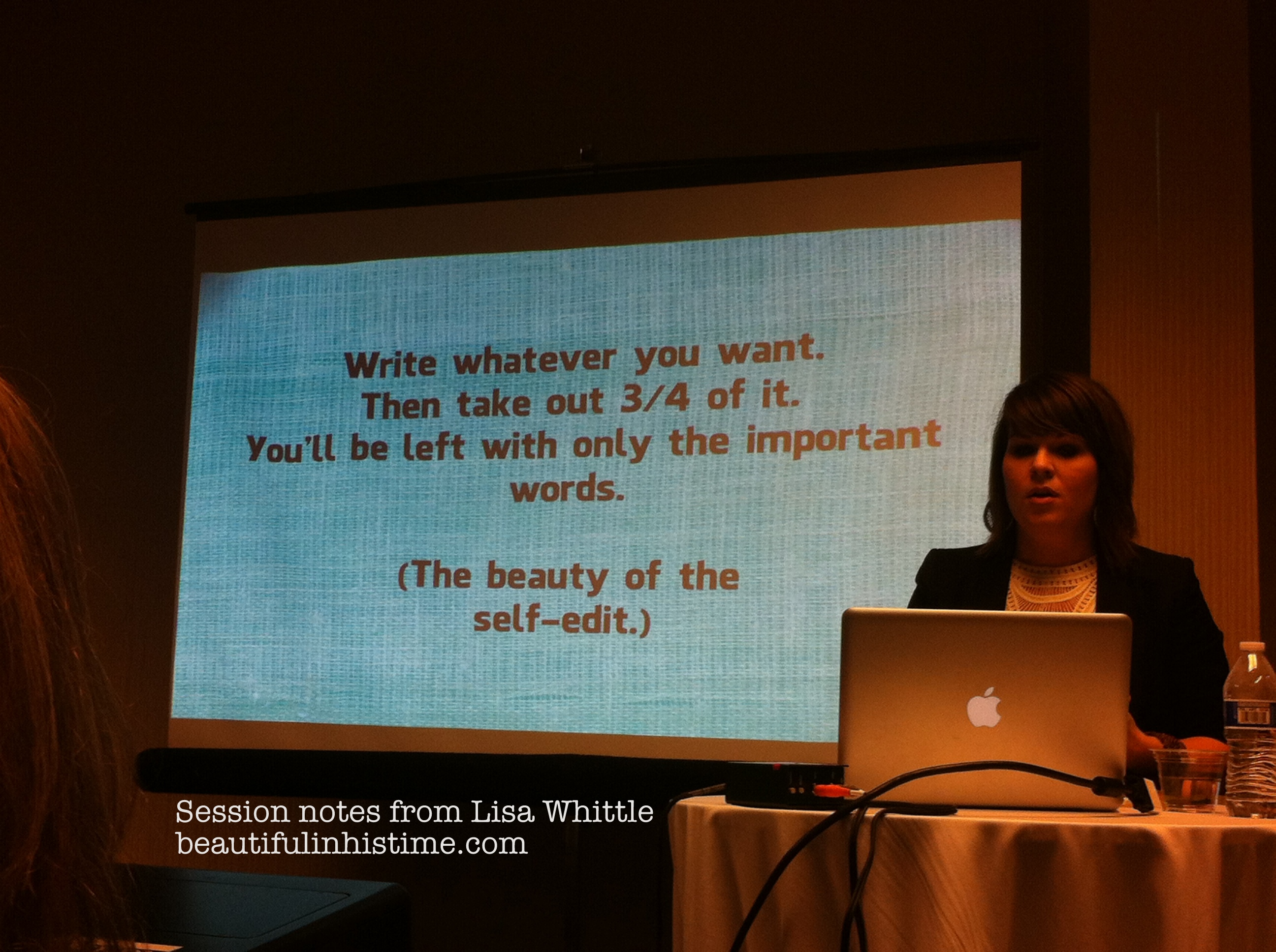 Write more. Edit more. Publish less. {takeaways from #allume}