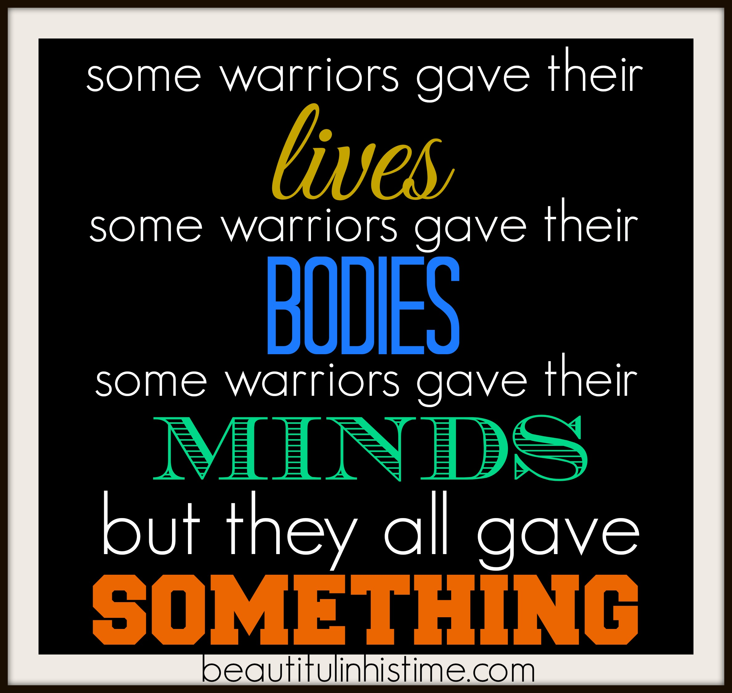 they all gave something #woundedwarriors #ptsd #combatstress #veterans #military #milpouse #deployment